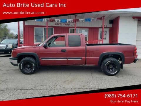 2004 Chevrolet Silverado 1500 for sale at Auto Brite Used Cars Inc in Saginaw MI