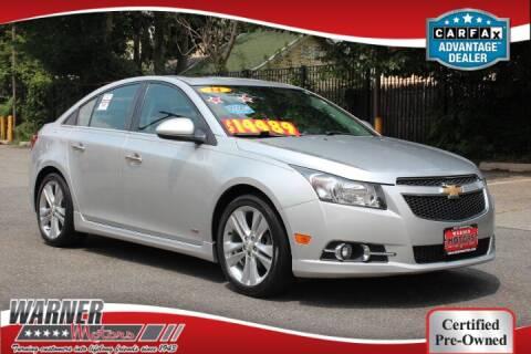 2014 Chevrolet Cruze for sale at Warner Motors in East Orange NJ