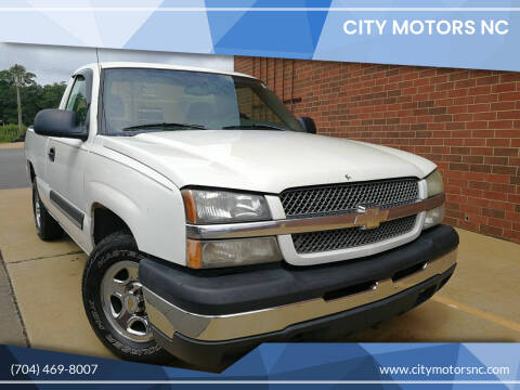 2004 Chevrolet Silverado 1500 for sale at City Motors NC in Charlotte NC