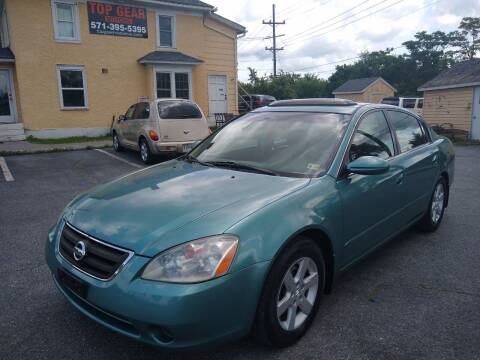 2002 Nissan Altima for sale at Top Gear Motors in Winchester VA