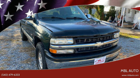 2001 Chevrolet Silverado 1500 for sale at MBL Auto in Fredericksburg VA