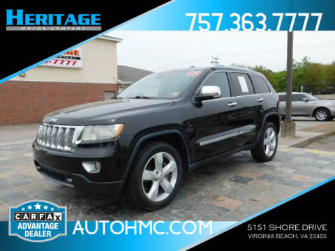 2012 Jeep Grand Cherokee for sale at Heritage Motor Company in Virginia Beach VA