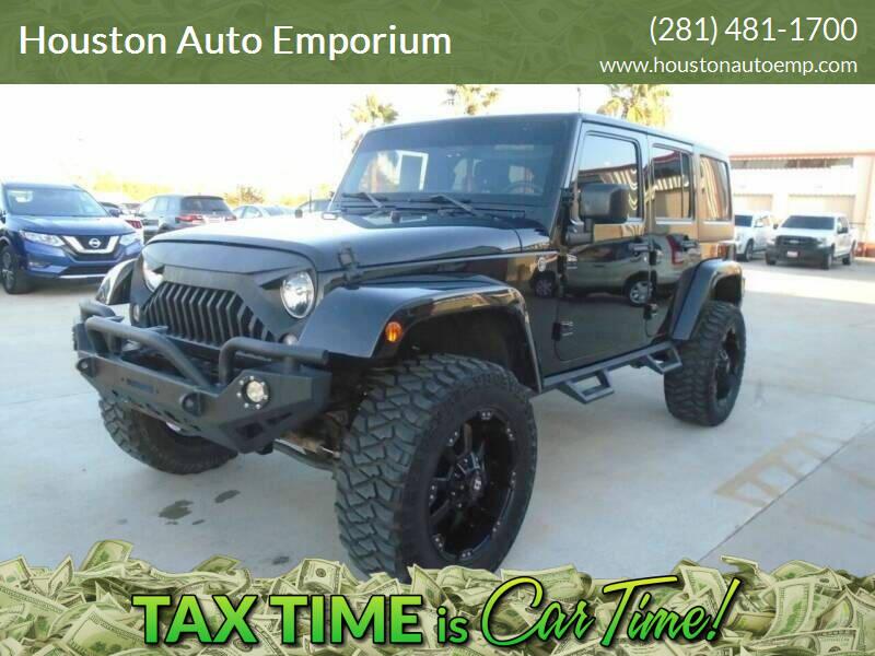 2015 Jeep Wrangler Unlimited for sale at Houston Auto Emporium in Houston TX