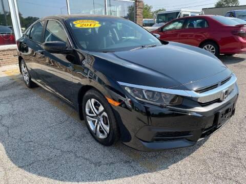 2017 Honda Civic for sale at Jose's Auto Sales Inc in Gurnee IL