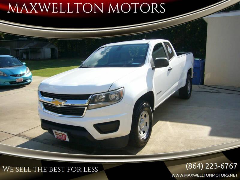 2016 Chevrolet Colorado for sale at MAXWELLTON MOTORS in Greenwood SC
