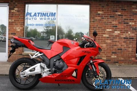 2013 Honda CBR600RR for sale at Platinum Auto World in Fredericksburg VA