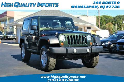 2012 Jeep Wrangler for sale at High Quality Imports in Manalapan NJ