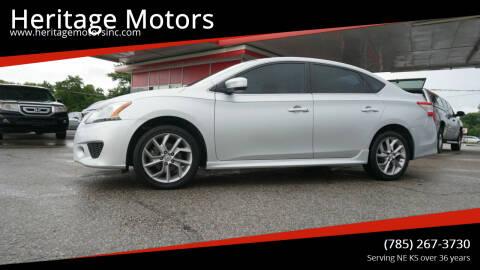2014 Nissan Sentra for sale at Heritage Motors in Topeka KS