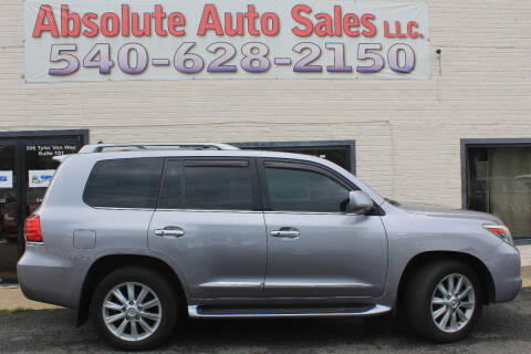 2008 Lexus LX 570 for sale at Absolute Auto Sales in Fredericksburg VA
