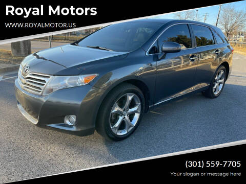 2010 Toyota Venza for sale at Royal Motors in Hyattsville MD