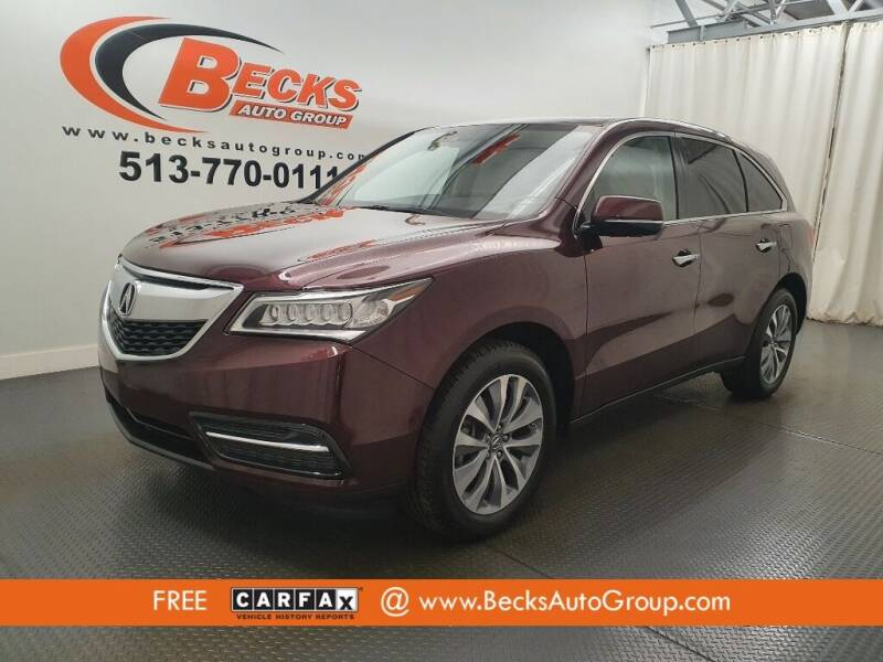 2015 Acura MDX for sale at Becks Auto Group in Mason OH