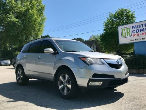 2010 Acura MDX for sale at GR Motor Company in Garner NC