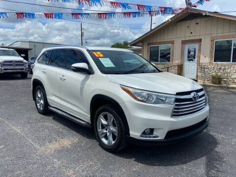 2015 Toyota Highlander for sale at The Trading Post in San Marcos TX