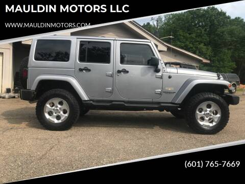 2015 Jeep Wrangler Unlimited for sale at MAULDIN MOTORS LLC in Sumrall MS