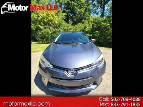 2015 Toyota Corolla for sale at Motor Max Llc in Louisville KY
