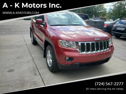 2012 Jeep Grand Cherokee for sale at A - K Motors Inc. in Vandergrift PA