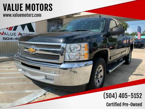 2013 Chevrolet Silverado 1500 for sale at VALUE MOTORS in Kenner LA