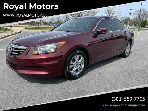 2011 Honda Accord for sale at Royal Motors in Hyattsville MD