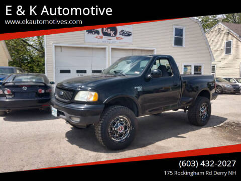 2002 Ford F-150 for sale at E & K Automotive in Derry NH