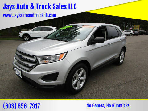 2016 Ford Edge for sale at Jays Auto & Truck Sales LLC in Loudon NH