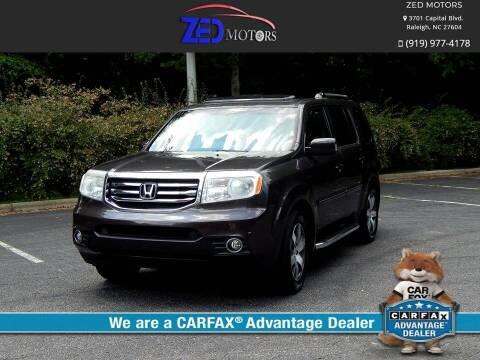 2012 Honda Pilot for sale at Zed Motors in Raleigh NC