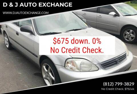 1999 Honda Civic for sale at D & J AUTO EXCHANGE in Columbus IN