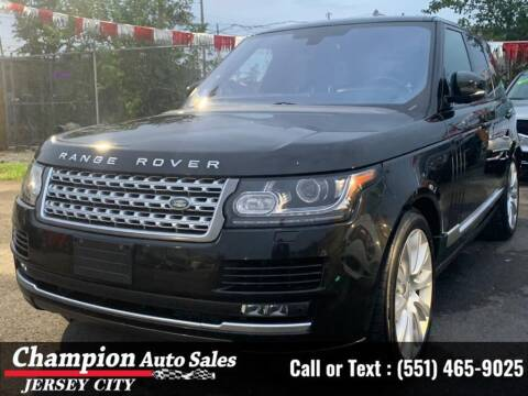 2016 Land Rover Range Rover for sale at CHAMPION AUTO SALES OF JERSEY CITY in Jersey City NJ