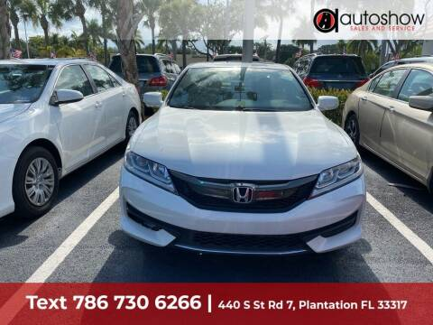 2017 Honda Accord for sale at AUTOSHOW SALES & SERVICE in Plantation FL