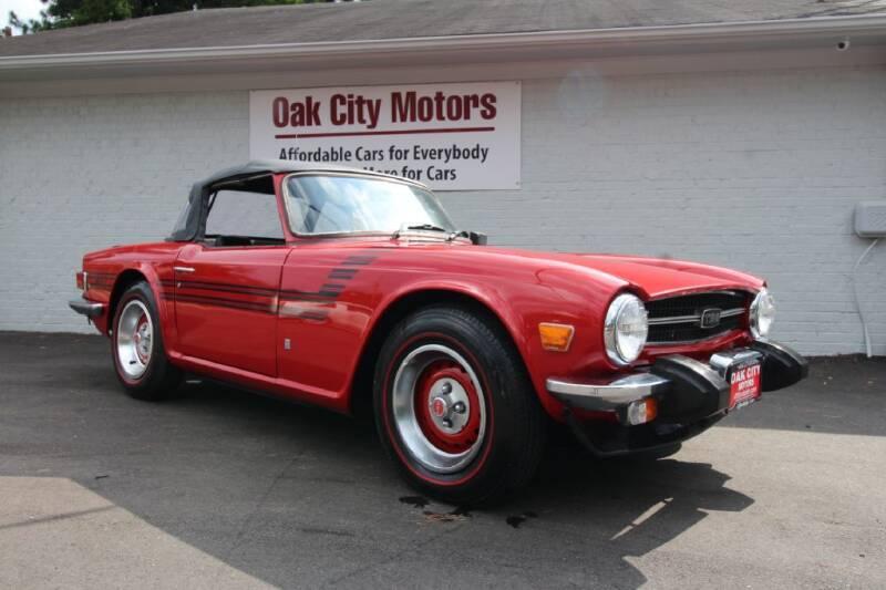 1975 Triumph TR6 for sale at Oak City Motors in Garner NC