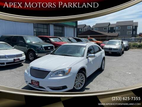 2011 Chrysler 200 for sale at Apex Motors Parkland in Tacoma WA