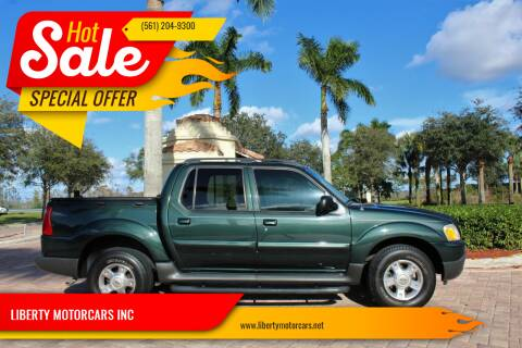 2004 Ford Explorer Sport Trac for sale at LIBERTY MOTORCARS INC in Royal Palm Beach FL