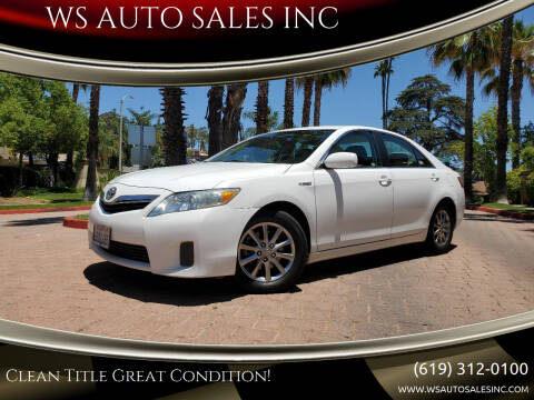 2010 Toyota Camry Hybrid for sale at WS AUTO SALES INC in El Cajon CA