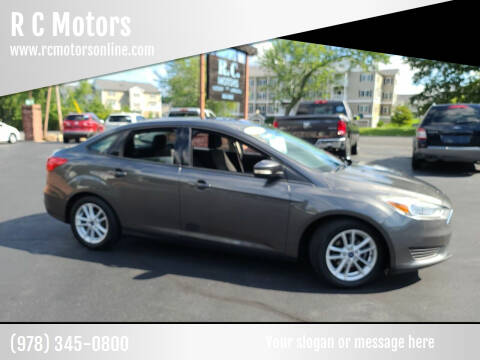 2015 Ford Focus for sale at R C Motors in Lunenburg MA