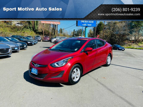 2015 Hyundai Elantra for sale at Sport Motive Auto Sales in Seattle WA