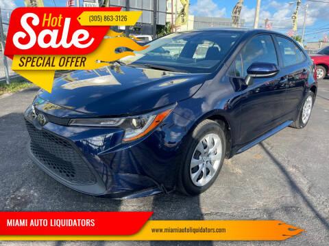 2020 Toyota Corolla for sale at MIAMI AUTO LIQUIDATORS in Miami FL