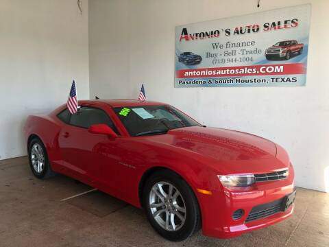 2014 Chevrolet Camaro for sale at Antonio's Auto Sales - Antonio`s  2206 in Pasadena TX