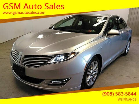 2014 Lincoln MKZ Hybrid for sale at GSM Auto Sales in Linden NJ