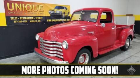 1952 Chevrolet C/K 20 Series for sale at UNIQUE SPECIALTY & CLASSICS in Mankato MN