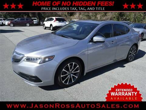 2015 Acura TLX for sale at Jason Ross Auto Sales in Burlington NC