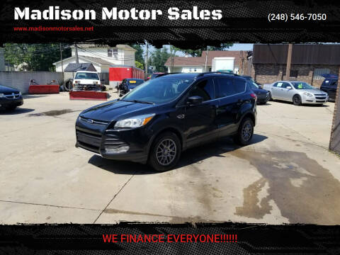 2015 Ford Escape for sale at Madison Motor Sales in Madison Heights MI