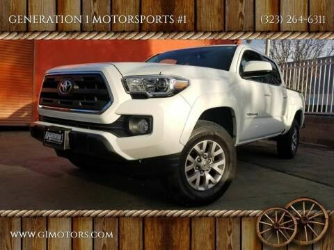 2016 Toyota Tacoma for sale at GENERATION 1 MOTORSPORTS #1 in Los Angeles CA