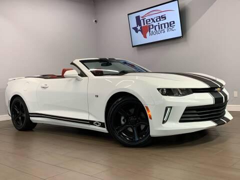 2018 Chevrolet Camaro for sale at Texas Prime Motors in Houston TX