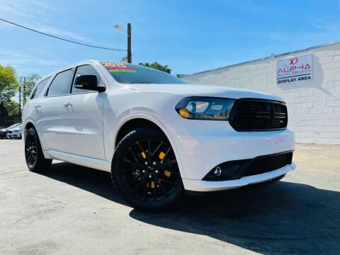 2015 Dodge Durango for sale at Alpha AutoSports in Roseville CA