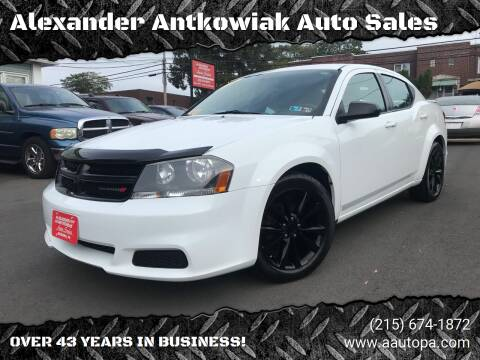 2014 Dodge Avenger for sale at Alexander Antkowiak Auto Sales in Hatboro PA