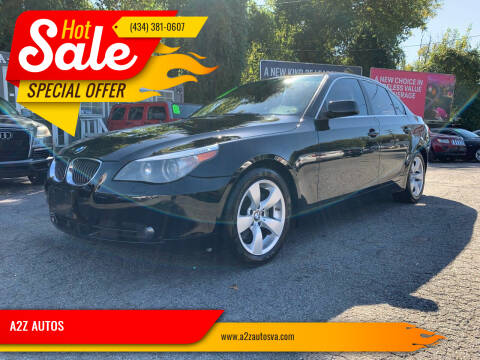 2007 BMW 5 Series for sale at A2Z AUTOS in Charlottesville VA