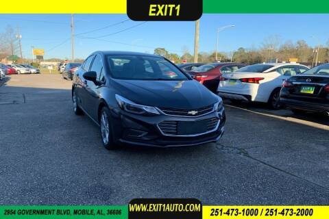 2017 Chevrolet Cruze for sale at Exit 1 Auto in Mobile AL