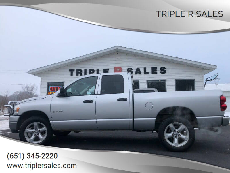 2008 Dodge Ram Pickup 1500 for sale at Triple R Sales in Lake City MN