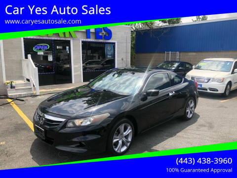 2012 Honda Accord for sale at Car Yes Auto Sales in Baltimore MD