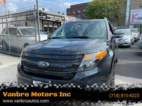 2013 Ford Explorer for sale at Vanbro Motors Inc in Staten Island NY
