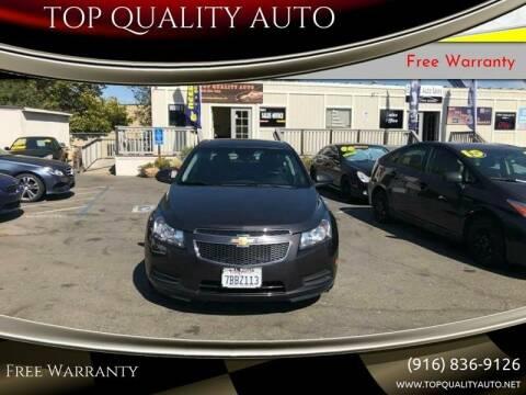 2014 Chevrolet Cruze for sale at TOP QUALITY AUTO in Rancho Cordova CA